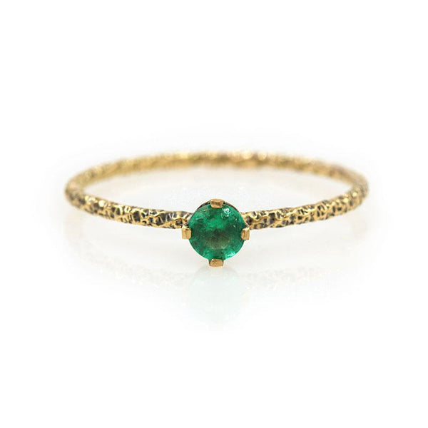 18k Twisted Emerald Ring* - LoveAudryRose.com