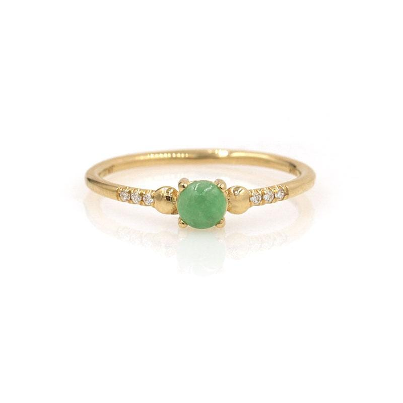 Jade Diamond Ring - LoveAudryRose.com