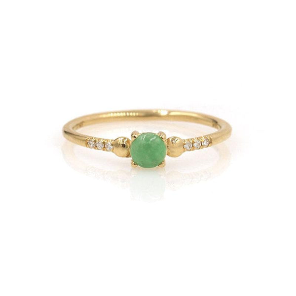 Jadeite Diamond Ring - LoveAudryRose.com