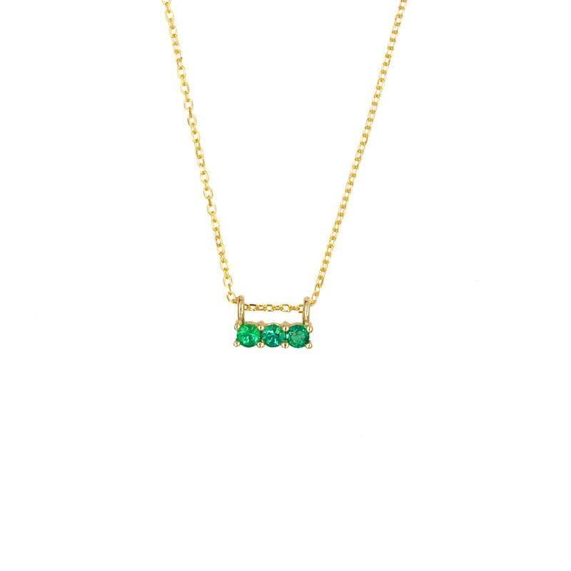 Emerald Trio Necklace - LoveAudryRose.com