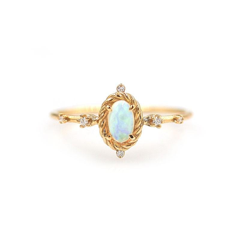 Twinkling Opal Diamond Ring - LoveAudryRose.com