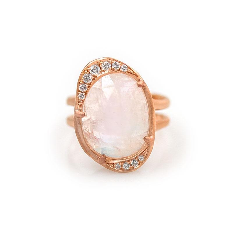 Magical Moonstone Diamond Ring - LoveAudryRose.com