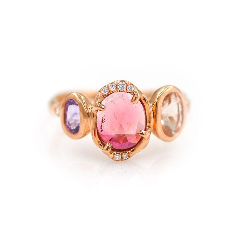 Triple Orbit Tourmaline Ring - LoveAudryRose.com