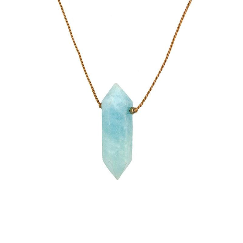 Large Aquamarine Vibe Necklace - LoveAudryRose.com