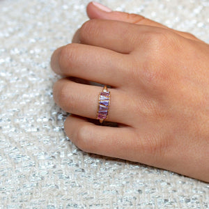 Lilac Sapphire Weave Ring