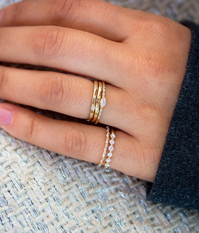 Organic Golden Band with Diamonds