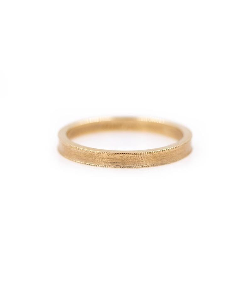 14K Gold Milgrain Band