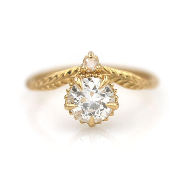 18k Diamond Drop Ring - LoveAudryRose.com