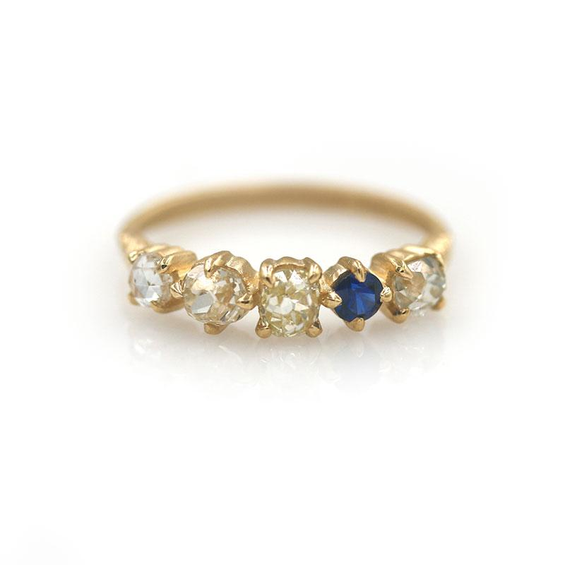 18k Diamond and Sapphire Band - LoveAudryRose.com