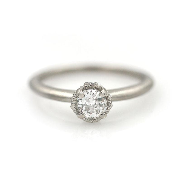 18k White Gold Diamond Ring - LoveAudryRose.com