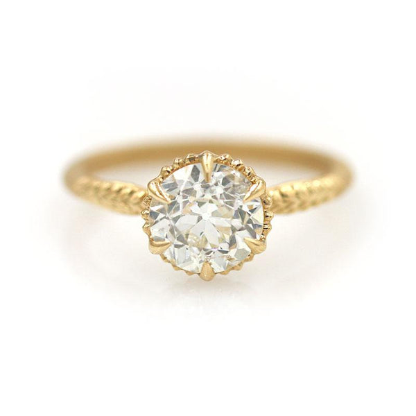 18k Round Diamond Ring - LoveAudryRose.com
