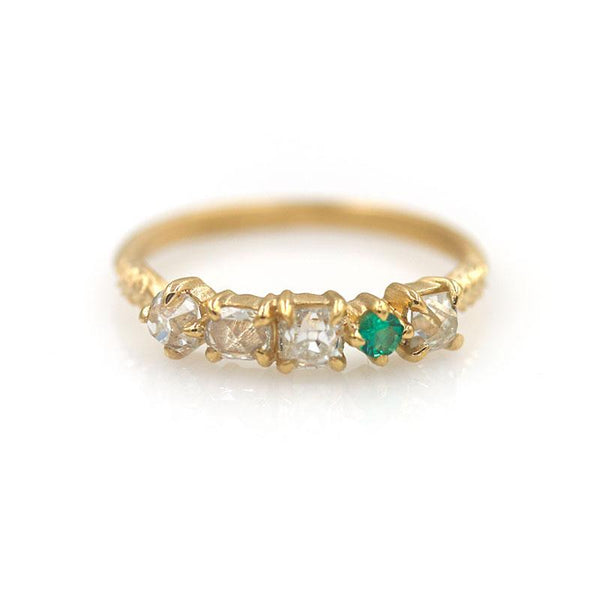 18k Diamond and Emerald Band - LoveAudryRose.com