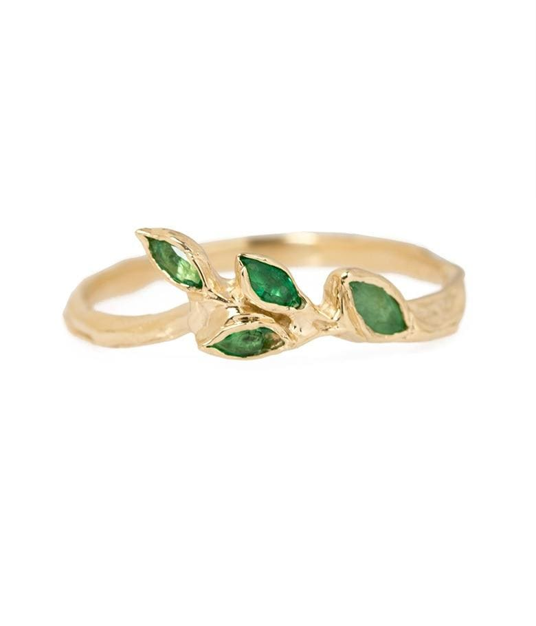 Emerald Leaf Ring*** - LoveAudryRose.com