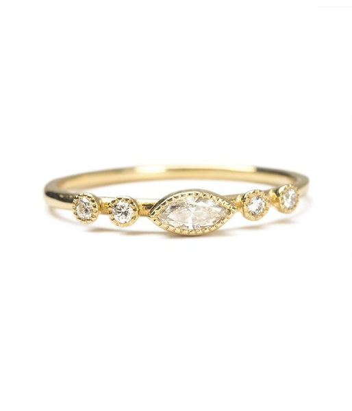 Marquise Diamond Dew Ring