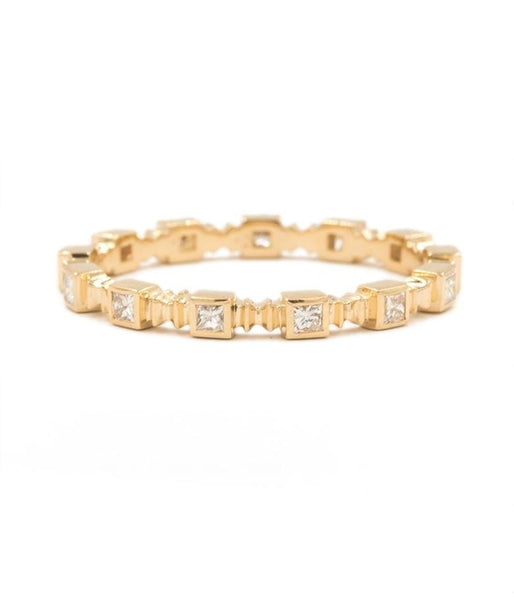 Square Diamond Eternity Band - LoveAudryRose.com