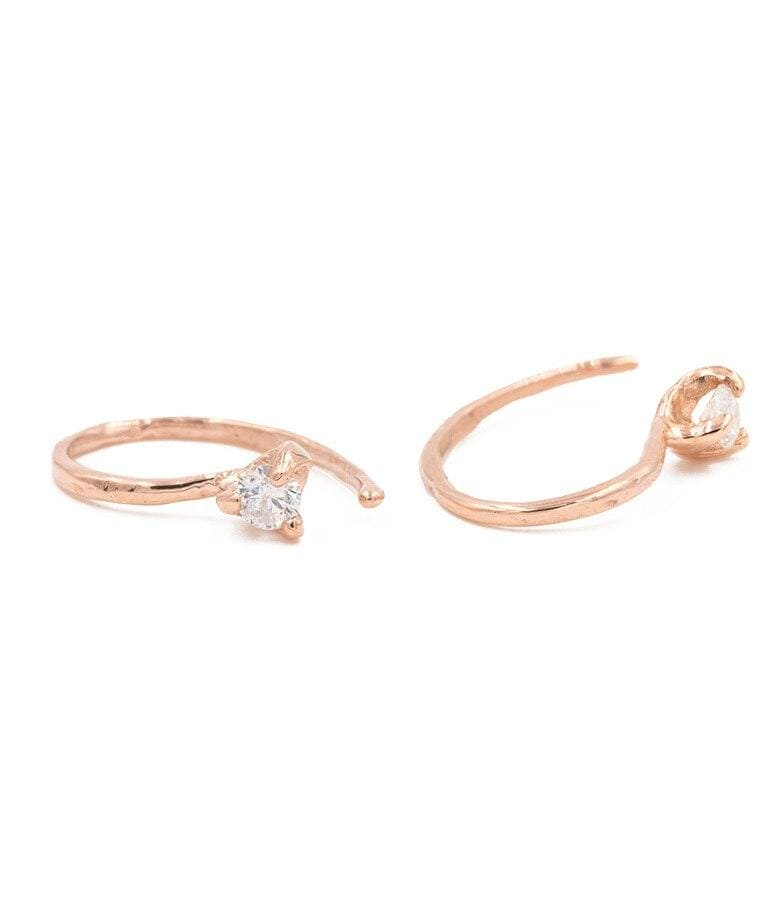 Rose Gold Diamond Loops