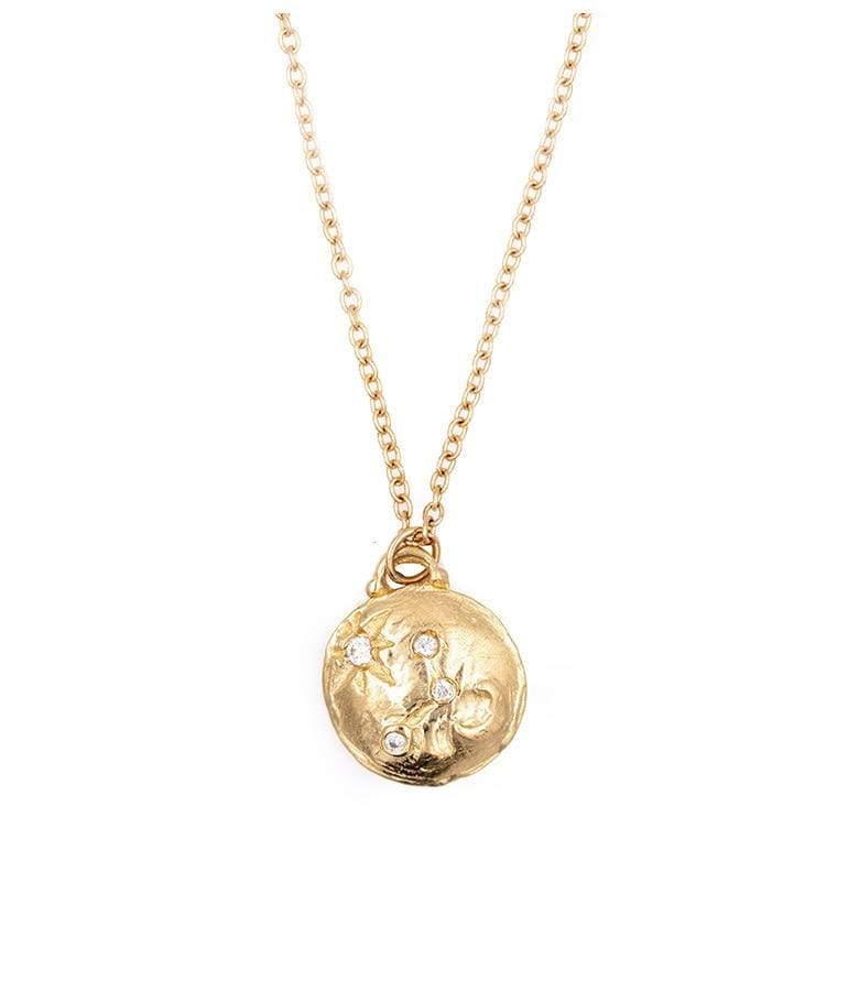 Star and Moon Diamond Constellation Necklace