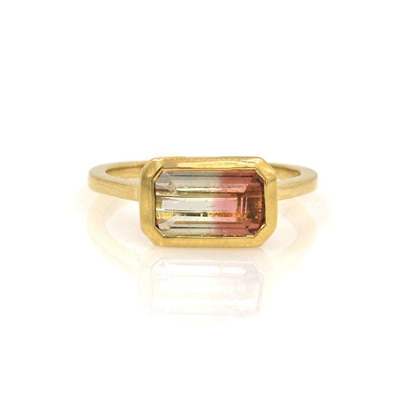 Bicolor Tourmaline Cathedral Ring