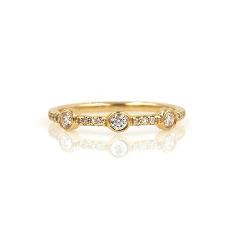 Triple Diamond and Pave Band
