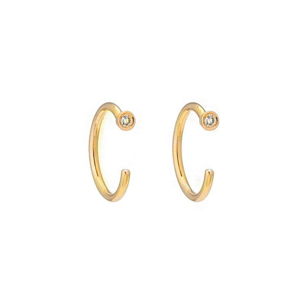 Diamond Mini Hoops