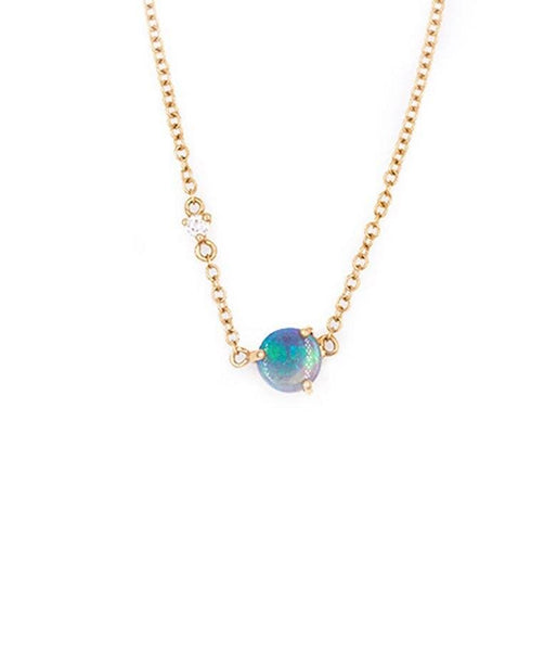 Opal Sparkly Moon Necklace*** - LoveAudryRose.com