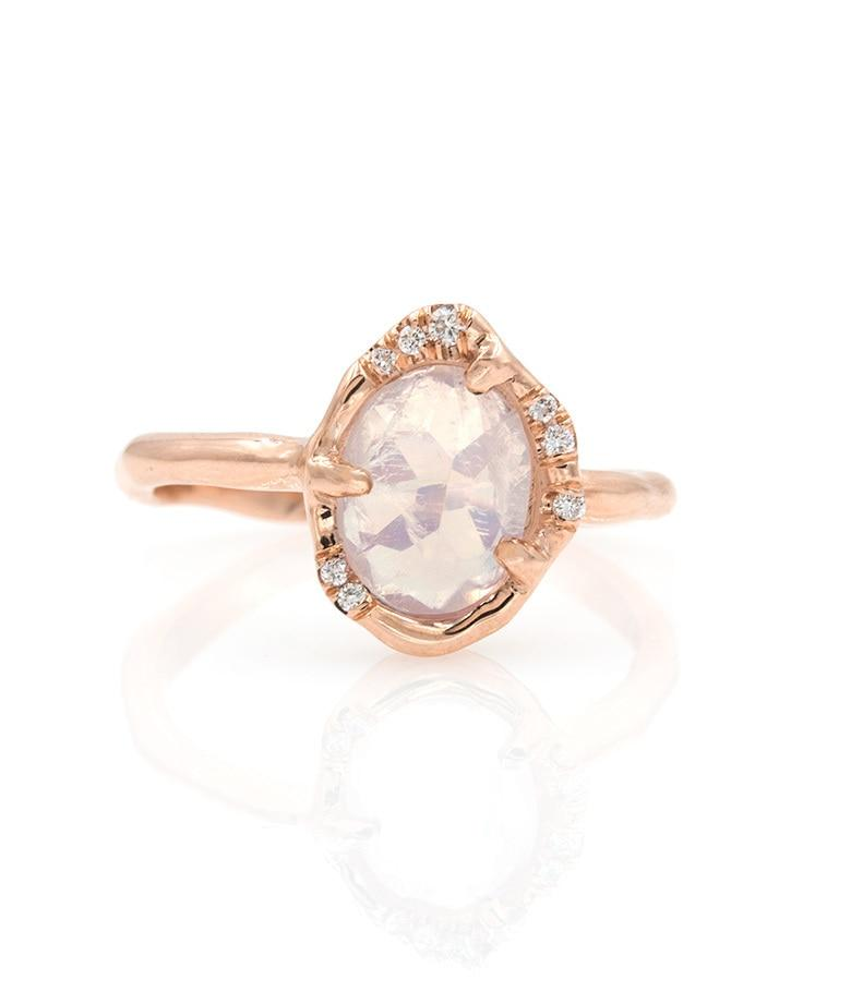 shimmering moonstone ring
