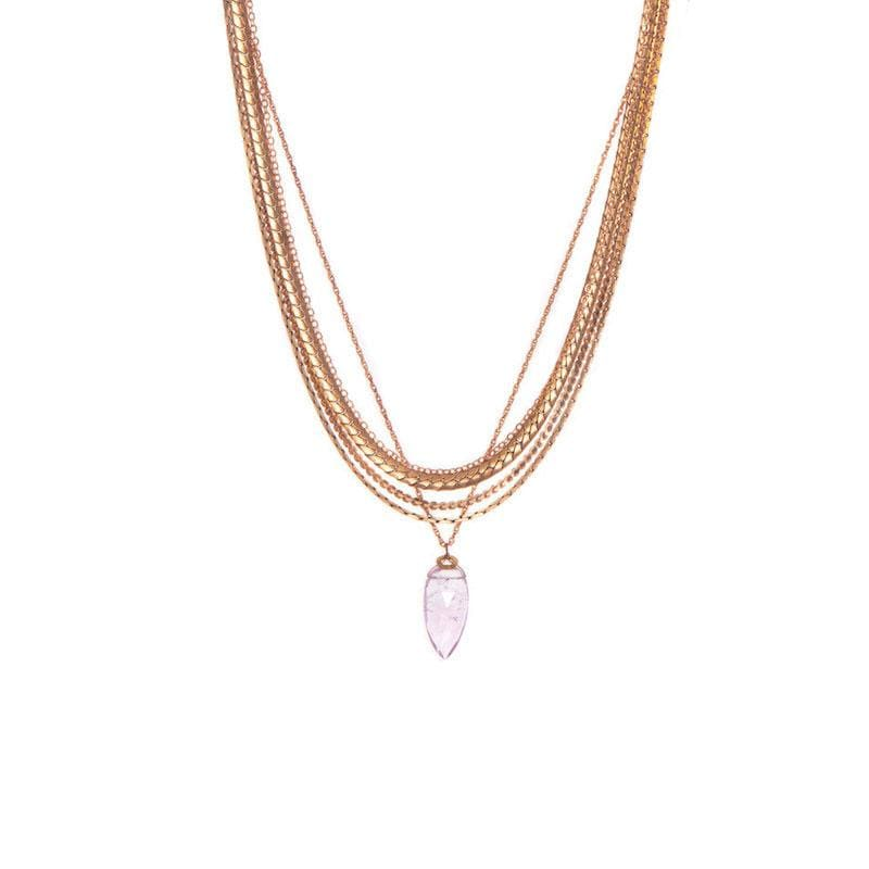 Pink Amethyst Chain Necklace - LoveAudryRose.com