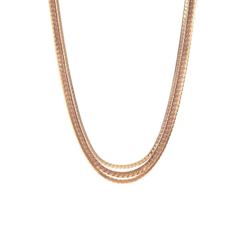 Large Chain Trio Necklace