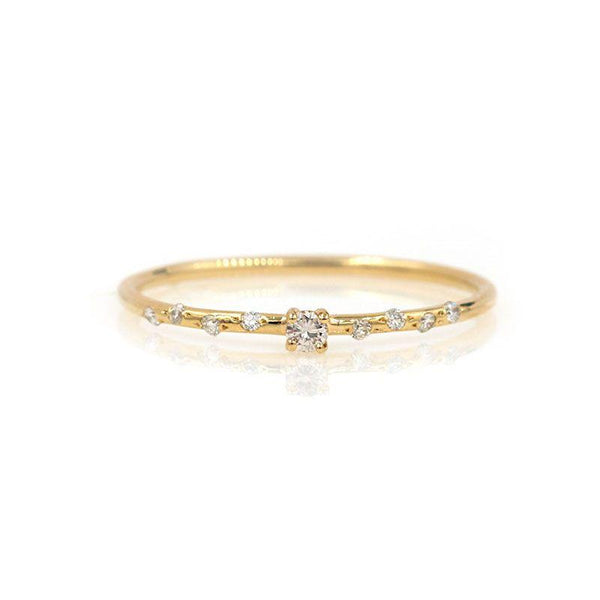 Dainty Starry Solitaire - LoveAudryRose.com