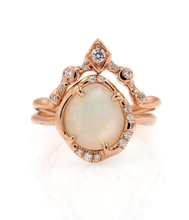 Rosy Opal Diamond Arch Set