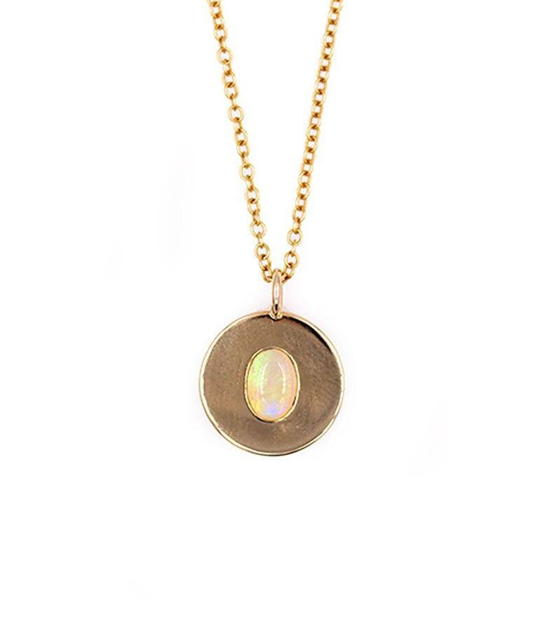 Opal Coin Necklace