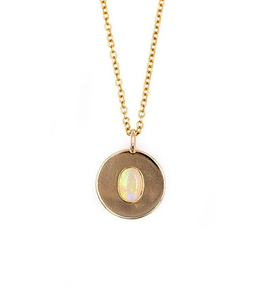 Opal Coin Necklace - LoveAudryRose.com