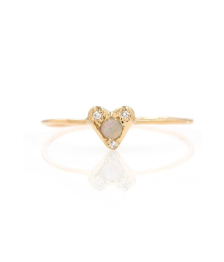 The Opal Diamond Heart