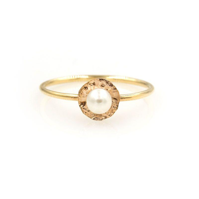 Pearl Lily Pad Ring - LoveAudryRose.com