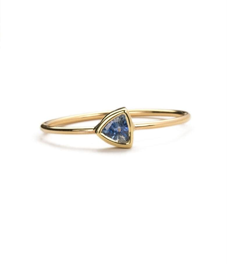Trillion Sapphire Ring - LoveAudryRose.com