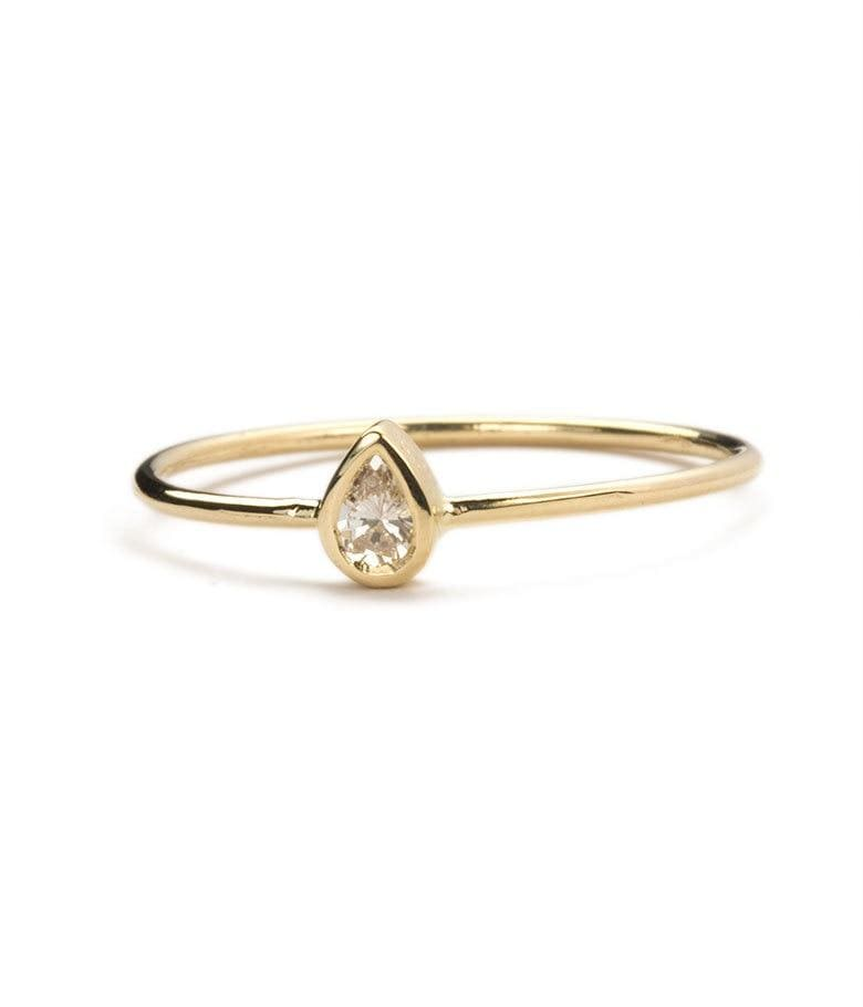 Mini Pear Diamond Ring