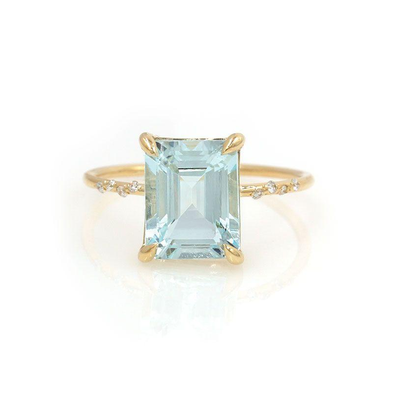 Large Starry Aquamarine Ring* - LoveAudryRose.com
