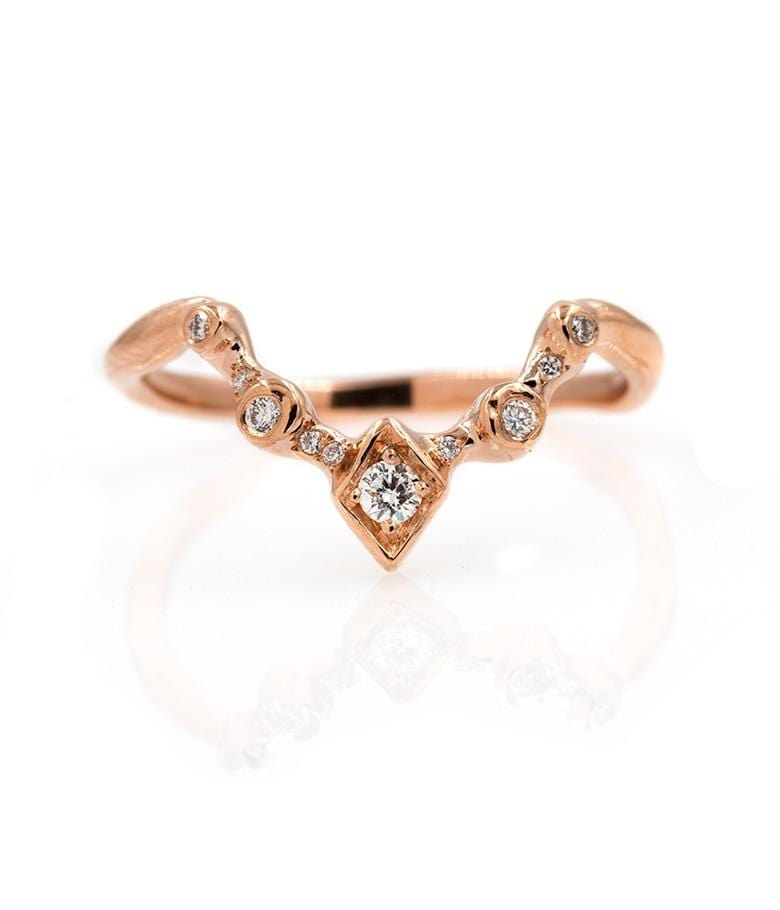 Etherial Diamond Arch Ring