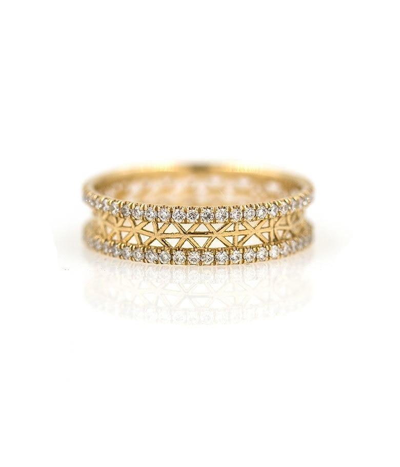 Snowflake Diamond Eternity Ring