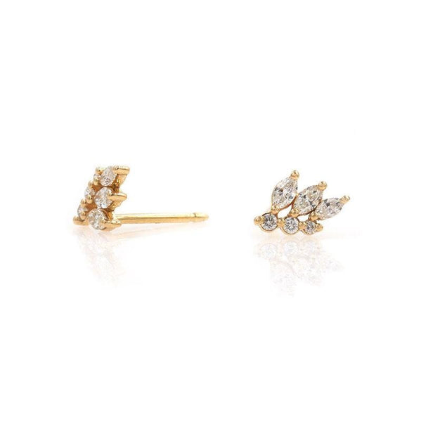 Diamond Wing Studs