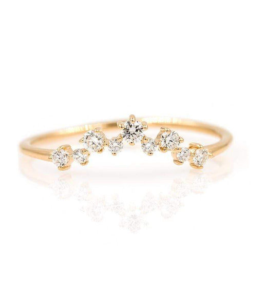 Diamond Cluster Arch Ring - LoveAudryRose.com