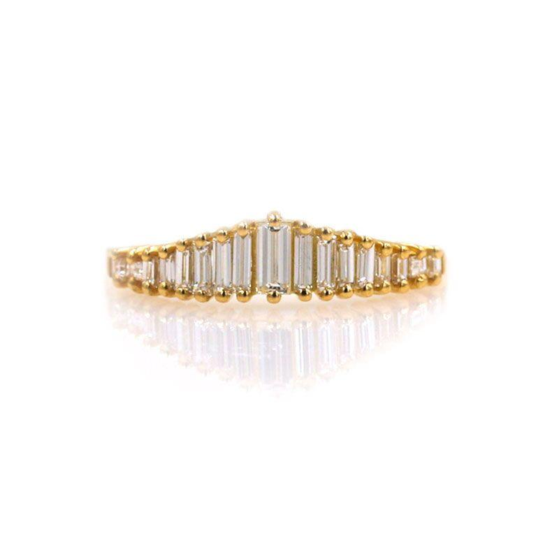 Art Deco Diamond Tiara Ring - LoveAudryRose.com