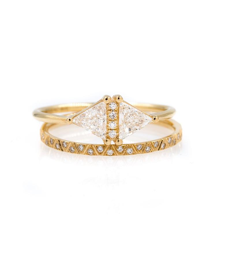 Geometric Diamond Stack - LoveAudryRose.com