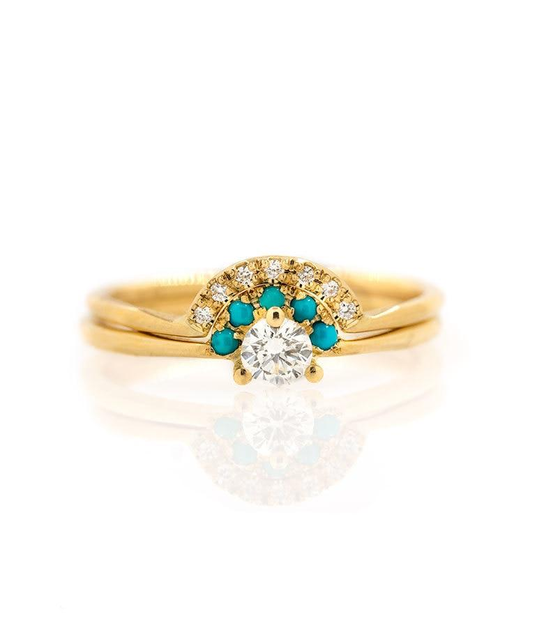 Turquoise Diamond Set