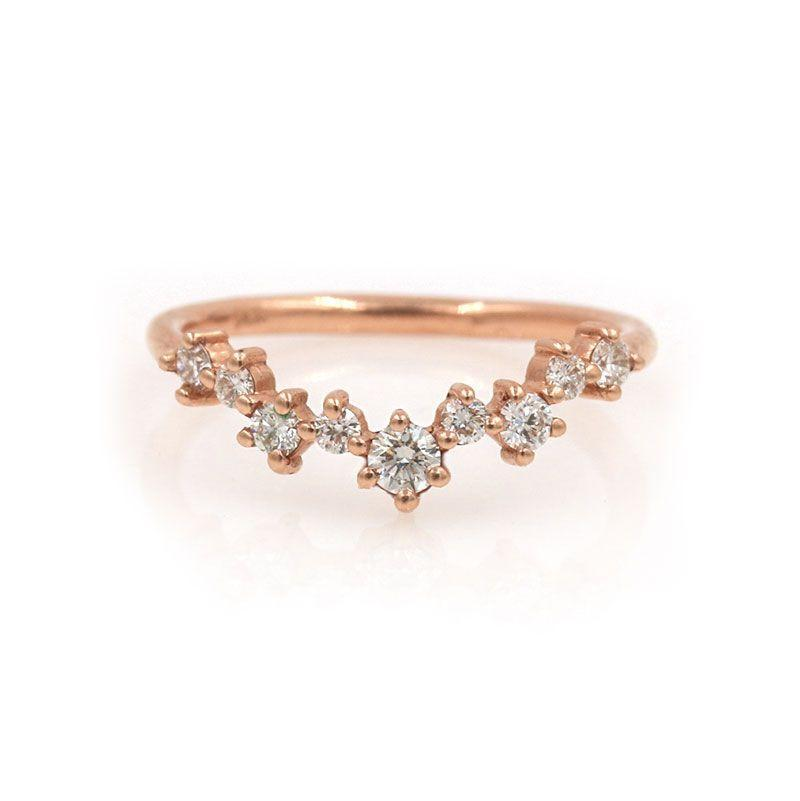 Large Diamond Cluster Arch Ring* - LoveAudryRose.com