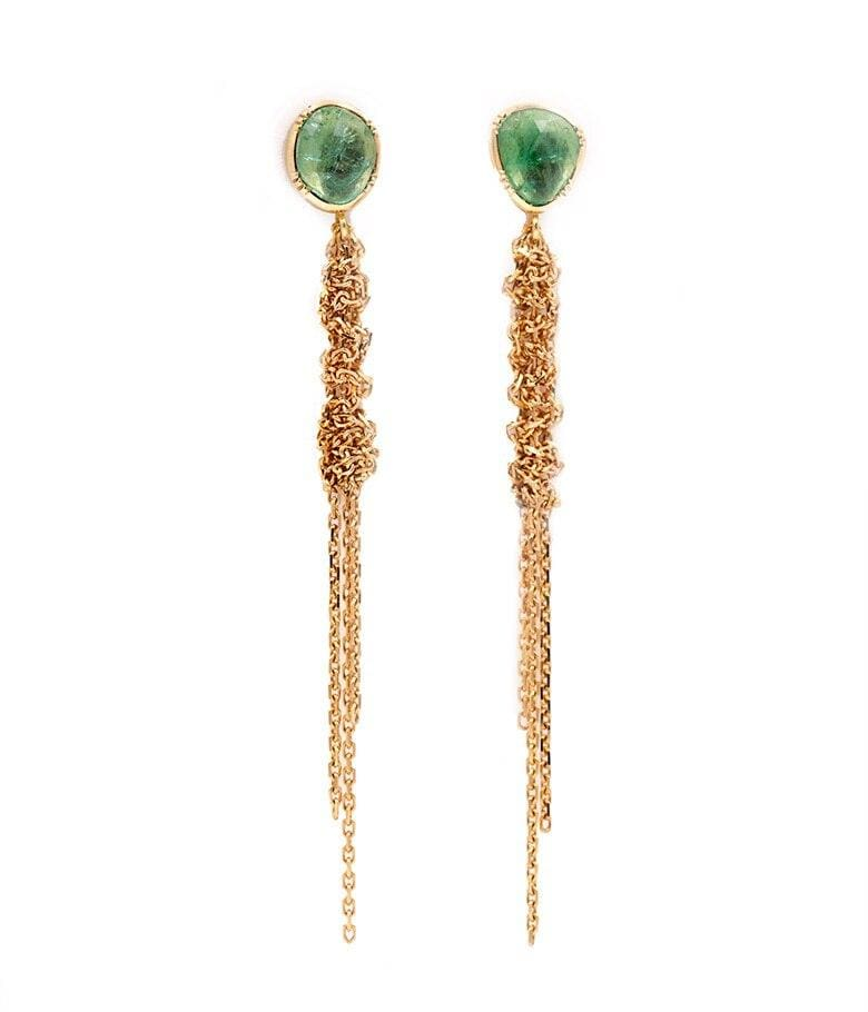 Waterfall Emerald Earrings