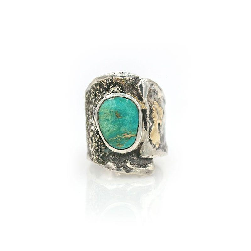Textured Turquoise Statement Ring - LoveAudryRose.com