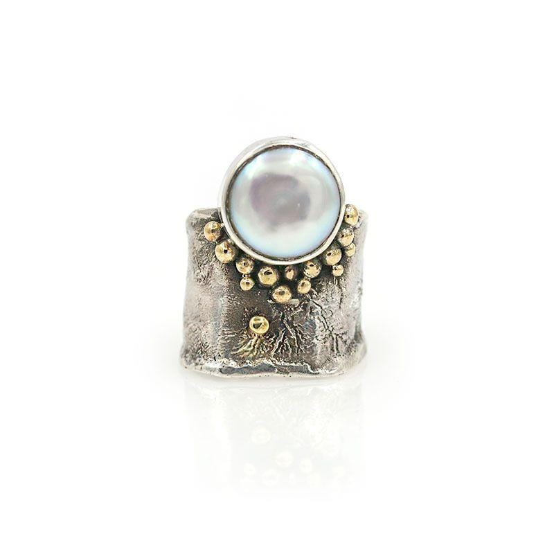 Textured Pearl Statement Ring - LoveAudryRose.com