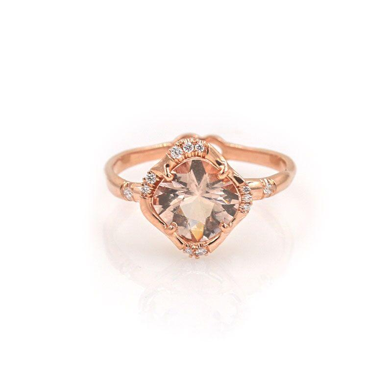 Cosmic Morganite Ring - LoveAudryRose.com