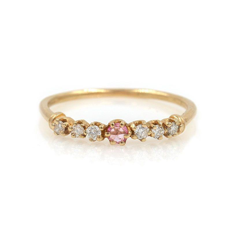 Pink Sapphire Twinkle Ring